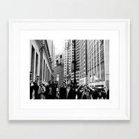 NEW YORK//TOURISTS Framed Art Print