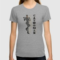 Catwoman Womens Fitted Tee Tri-Grey SMALL