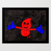 Derick The Drip Art Print