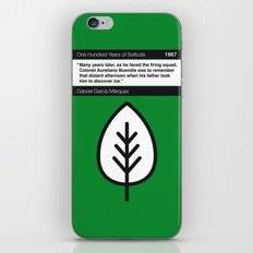 No004 MY One Hundred Years of Solitude Book Icon poster iPhone & iPod Skin