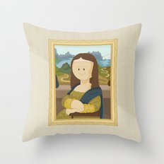 Gioconda by Leonardo Da Vinci Throw Pillow