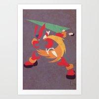 Megaman Zero Art Print