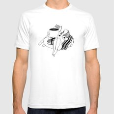 Big Breakfast White SMALL Mens Fitted Tee