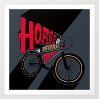 Horse Of A Different Col… Art Print