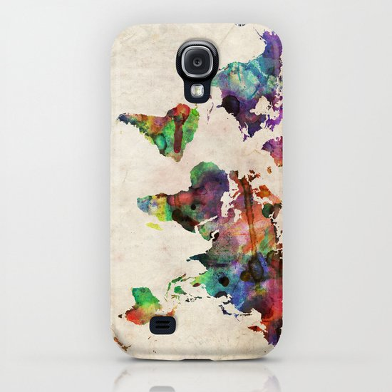 World Map Urban Watercolor iPhone & iPod Case
