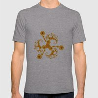 Fractal Flower Mens Fitted Tee Athletic Grey SMALL