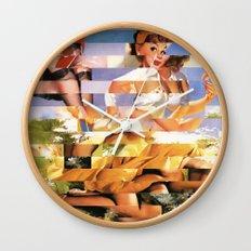 Glitch Pin-Up Redux: Xena Wall Clock
