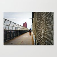 Walking on the Manhattan Bridge Canvas Print