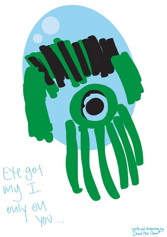 my eye is only on you [SQUID] [EYE]  Art Print
