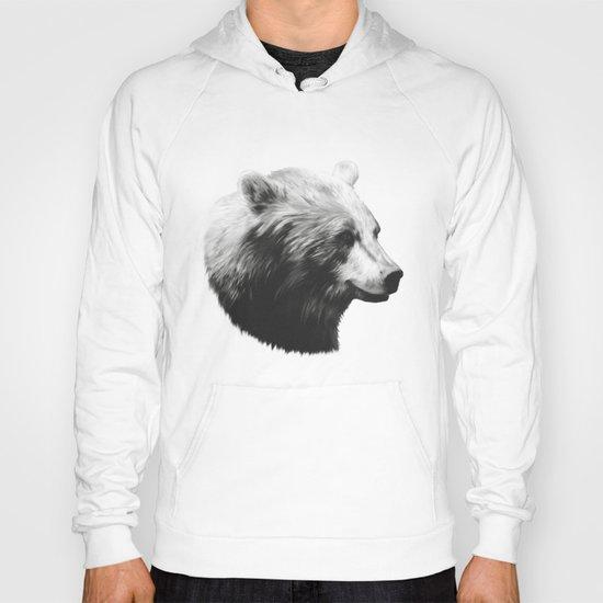 Bear // Calm (Black + White) Hoody