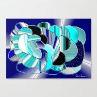 Blueness Canvas Print