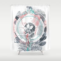 /blo͞om/ Shower Curtain
