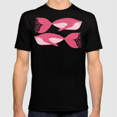 Whales - Under the Surface SMALL Black Mens Fitted Tee
