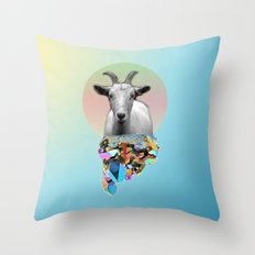 Titanium Goat Throw Pillow