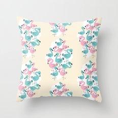 Flamingo Go Go Throw Pillow