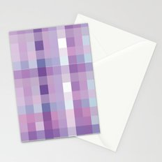 Pixelate Lavender Stationery Cards