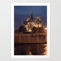 Paris by Night: Notre Dame Art Print