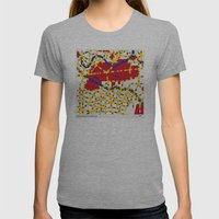 BOOGIE WOOGIE BERLIN Womens Fitted Tee Athletic Grey SMALL
