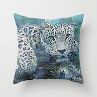 Leopard Abstract Throw Pillow