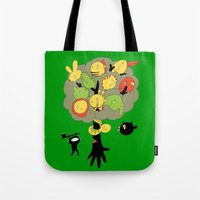 Tote Bag featuring The Ninja Assassin by W.H.Tham