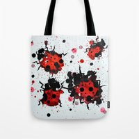 Splattered Bugs Tote Bag