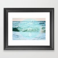 Crash into Me Framed Art Print