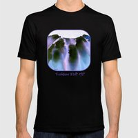Rainbow Falls Mens Fitted Tee Black SMALL