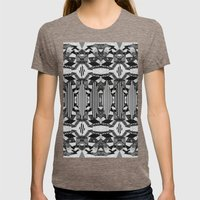 HYPNOTIZED Womens Fitted Tee Tri-Coffee SMALL
