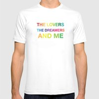The Lovers, The Dreamers, and Me Mens Fitted Tee White SMALL
