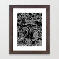 Oodles of Doodles of Singapore (Black) Framed Art Print