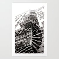 Spiral Stairway Art Print