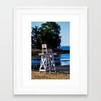 Life Guard Off Duty - En… Framed Art Print