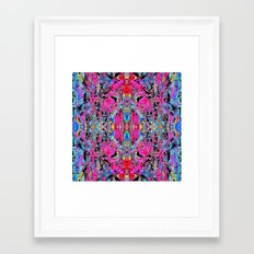 Sophisticated Psychedelic Boho Framed Art Print