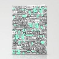 Paris Toile Aquamarine Stationery Cards