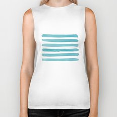 Watercolor Juicy Strokes: Teal Biker Tank