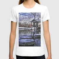 Japanese Garden Womens Fitted Tee White SMALL