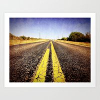 1000 miles to no where  Art Print