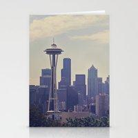 Seattle Skyline Stationery Cards