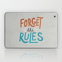 Forget the Rules Laptop & iPad Skin