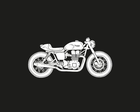 Triumph Bonneville - Cafe Racer series #3 Art Print