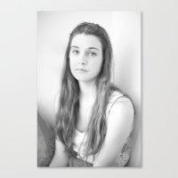 Lily B+W Canvas Print
