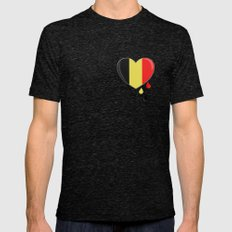 Crying for Belgium Brussels Mens Fitted Tee Tri-Black SMALL