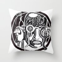 Character: F Throw Pillow