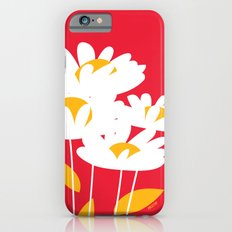 Flowers on Red by Friztin iPhone 6s Slim Case
