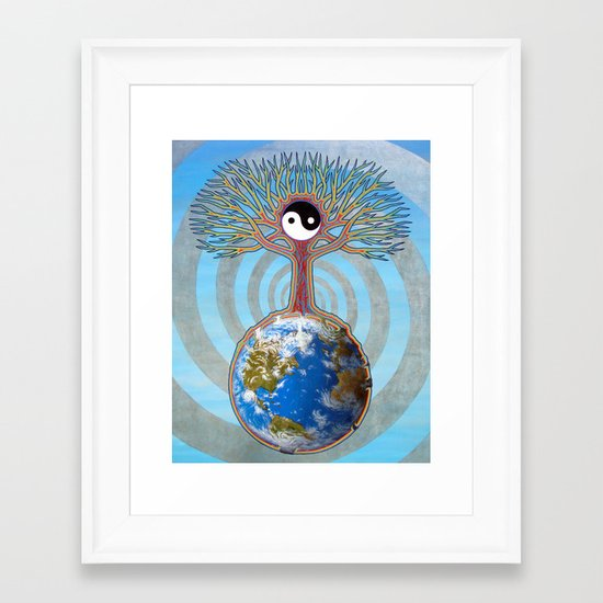 Balanced Earth Framed Art Print