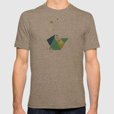 Exploding Triangles//Six Mens Fitted Tee Tri-Coffee SMALL