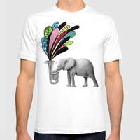 Color Burst Mens Fitted Tee White SMALL