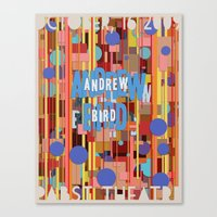 Andrew Bird Poster Canvas Print