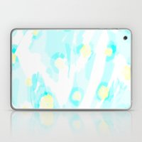 Madison - Baby blue bright abstract art Laptop & iPad Skin