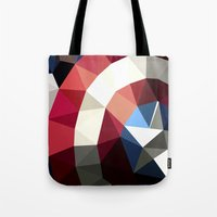 Polygon Heroes - Captain America Tote Bag